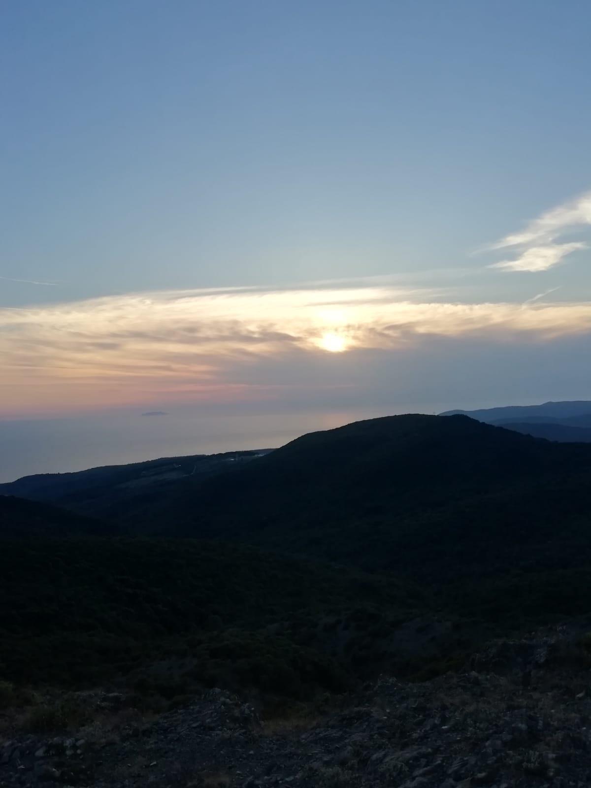 Escursione serale sul Monte Pelato