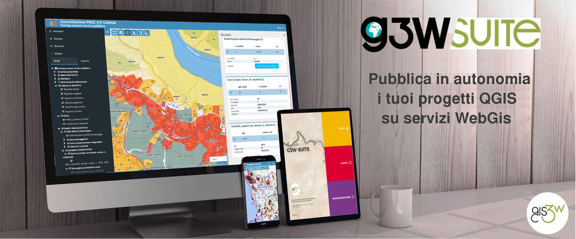 Modulo VI: G3W-SUITE la soluzione più completa per la pubblicazione e gestione progetti QGIS su servizi WebGis