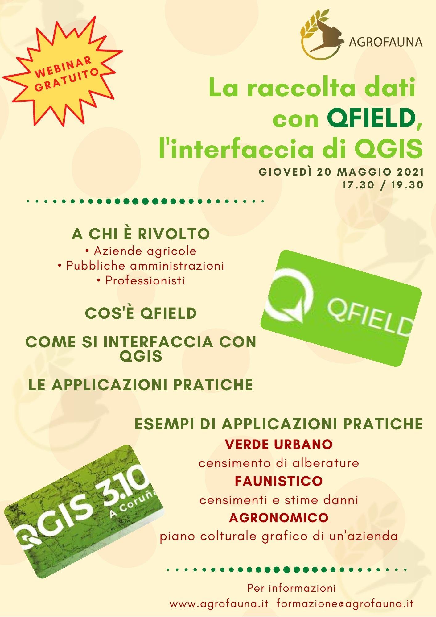 La raccolta dati con QFIELD, interfaccia con QGIS